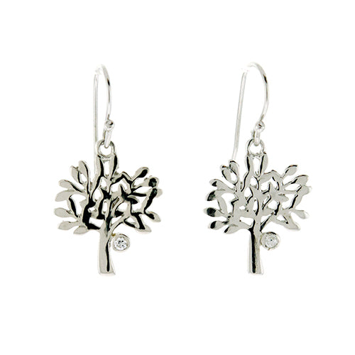CZ Tree of Life Earrings