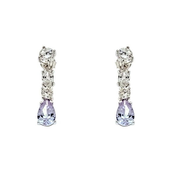 Alexandrite CZ Drop Earrings