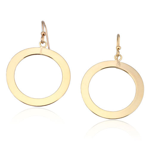 Gold Vermeil Flat Round Earrings