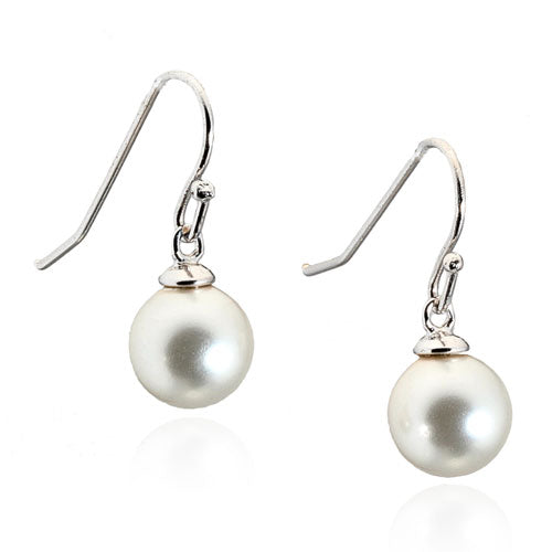 Pearl Fish Hook Earrings