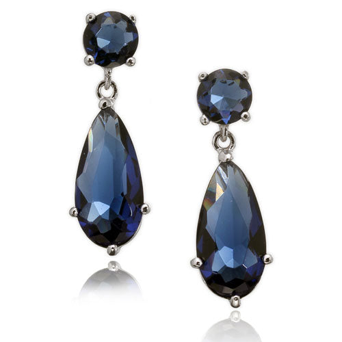 Sapphire CZ Post Earrings