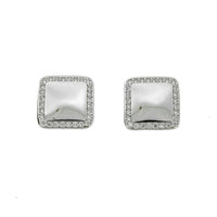 Square Halo Stud Earrings