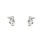Pearl Music Note Stud Earrings
