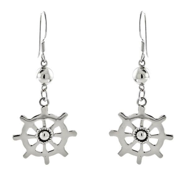 Ship Wheel (Helm) Earrings
