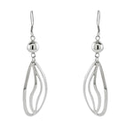 Oval Wave Drop Earrings