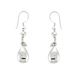 Puffed Teardrop Dangling Earrings
