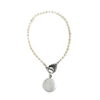 4mm Antique Toggle Pearl Bracelet