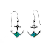 Turquoise Anchor Earrings
