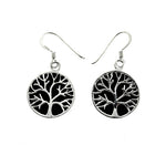Black Onyx Tree of Life Earrings
