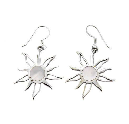 Mother of Pearl Sun Earrings