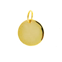Gold Vermeil Round Disc (Inside Hole)