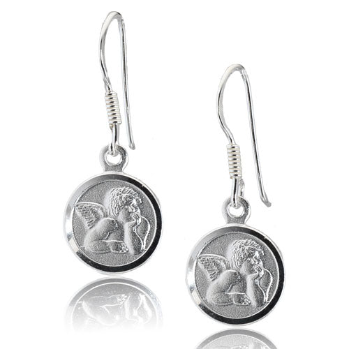 Angel Medal Disc Earrings