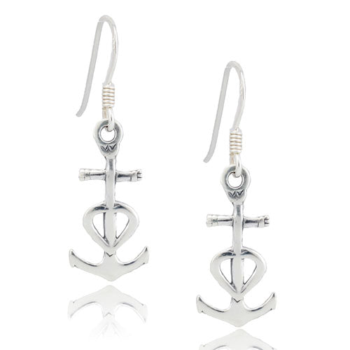 Anchor and Heart Earrings