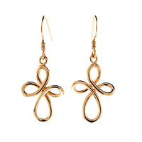 Infinity Cross Earrings