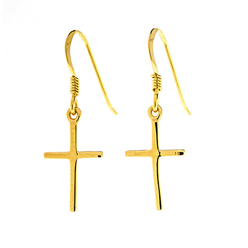 Dangling Cross Earrings