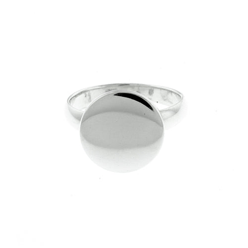 12mm Round Monogram Ring