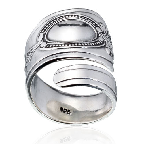 Wide Western Spoon Ring