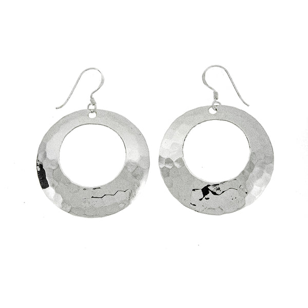 Hammered Graduated Circle Earrings