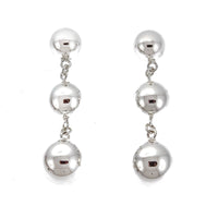 Silver Three Ball Post Earrings