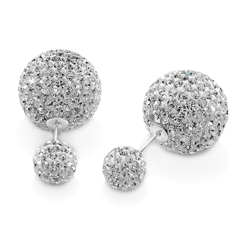 Pave Double Ball Earrings