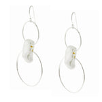 Round Wire Baroque Pearl Earrings