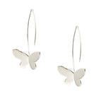 Long Wire Butterfly Earrings