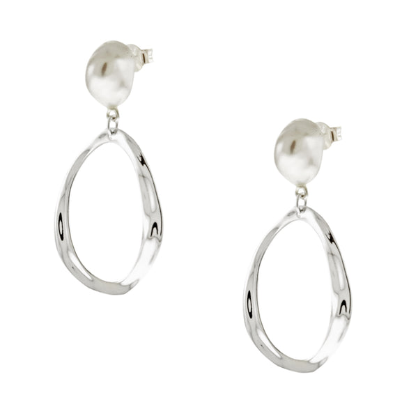 Baroque Pearl Dangling Earrings