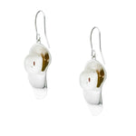 Baroque Pearl Lily Pad Earrings