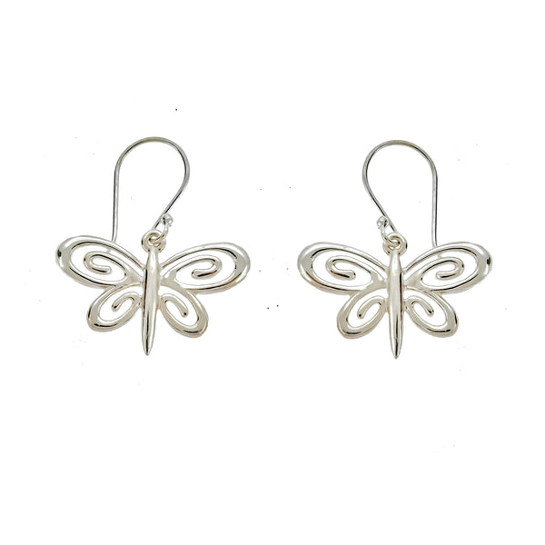 Spiral Dragonfly Earrings
