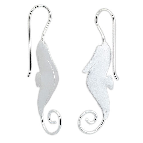 Satin Sea Horse Earrings