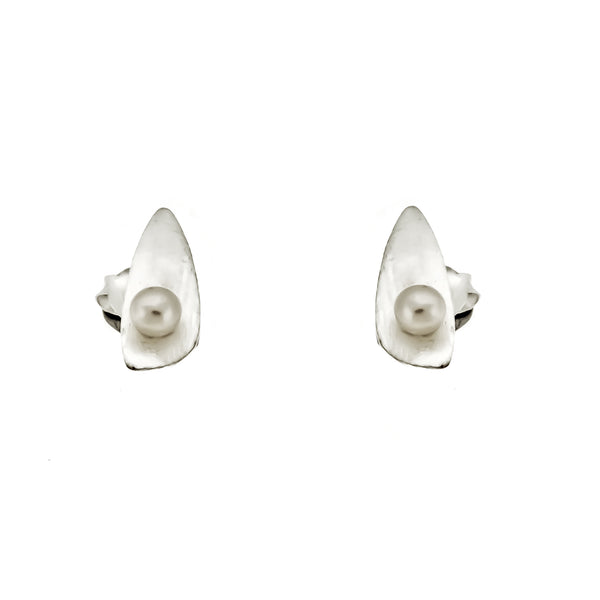 Satin Oblong Triangle Studs
