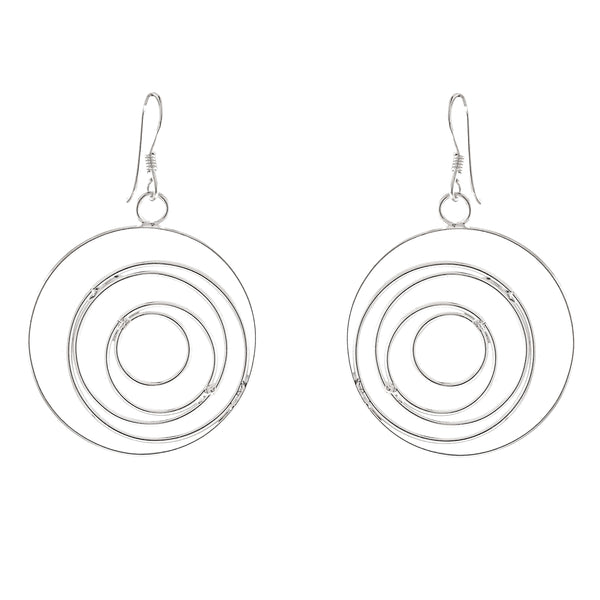 Wire Spiral Earrings