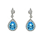 Aquamarine Teardrop Earrings