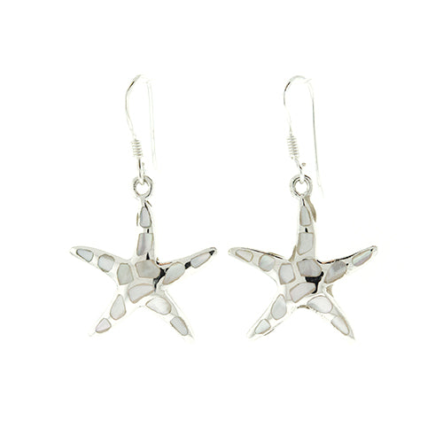 Mother of Pearl Starfish Earrings