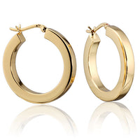 Gold Vermeil 4mm Square Tube Hoops