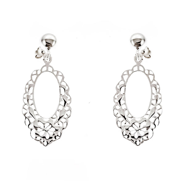 Oval Filigree Post Earrings