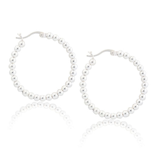 3mm Bead Hoops