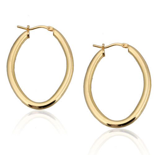 Gold Vermeil Oval Hoops