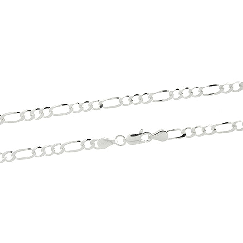 3mm Figaro 100 Chain