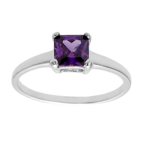 6mm Amethyst Birthstone Ring - February