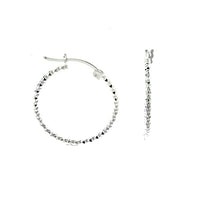 1mm Diamond Cut Hoops