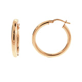 3mm Rose Gold Round Hoops