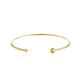 Double Bead Cuff Bangle Bracelet