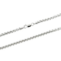 Rhodium 3mm Hollow Round Box 300 Chain