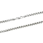 Rhodium 5mm Hollow Round Box 500 Chain