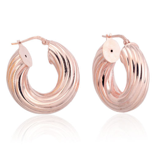 Rose Gold Lined Hoops