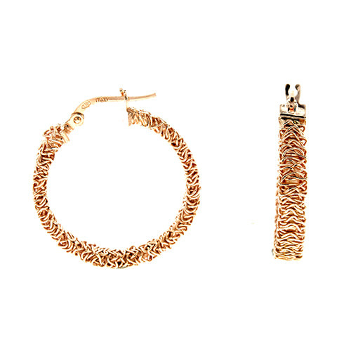 Rose Gold Mesh Wire Hoops