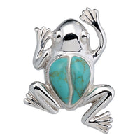 Blue Turquoise Frog Pendant
