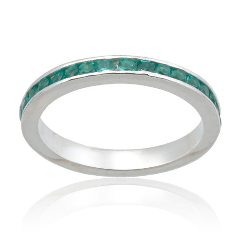 Emerald CZ Eternity Band