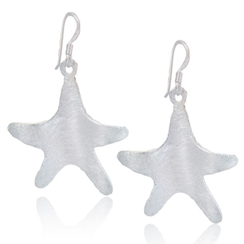 Satin Starfish Earrings